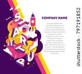 startup technology concept.... | Shutterstock .eps vector #797191852