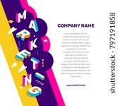 marketing  technology concept.... | Shutterstock .eps vector #797191858