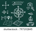 vector sketch style travel icon ... | Shutterstock .eps vector #797192845