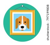 picture of a beagle dog in... | Shutterstock .eps vector #797199808