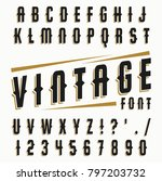 vector set of letters in retro... | Shutterstock .eps vector #797203732
