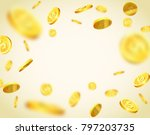 isolated objects of gold coins... | Shutterstock .eps vector #797203735