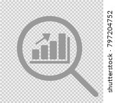 graph and magnifying glass.... | Shutterstock .eps vector #797204752