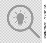 bulb and magnifying glass... | Shutterstock .eps vector #797204755