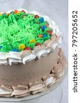chocolate cake with green... | Shutterstock . vector #797205652