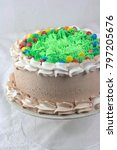 chocolate cake with green... | Shutterstock . vector #797205676