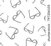 sunglass seamless pattern... | Shutterstock .eps vector #797206105