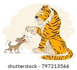 vector illustration of a dog... | Shutterstock .eps vector #797213566