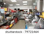 kitchen of a fast food...   Shutterstock . vector #79721464