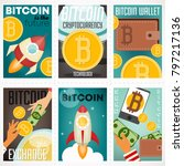 posters set of cryptocurrency... | Shutterstock .eps vector #797217136
