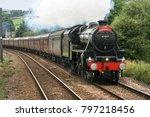 black five steam locomotive... | Shutterstock . vector #797218456