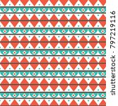 tribal abstract pattern | Shutterstock .eps vector #797219116