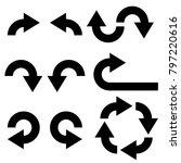black flat arrows set. vector... | Shutterstock .eps vector #797220616