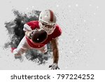 football player with a red... | Shutterstock . vector #797224252