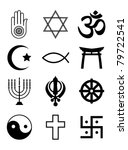 a set of religious symbols.... | Shutterstock .eps vector #79722541