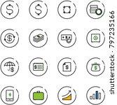 line vector icon set   dollar...   Shutterstock .eps vector #797235166