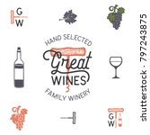 wine  winery logo and icons ... | Shutterstock .eps vector #797243875