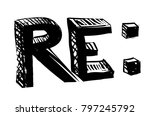 mail replay letters concept | Shutterstock .eps vector #797245792