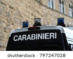 Van Vehicle Of Italian Police...