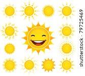 sun set   Shutterstock .eps vector #79725469