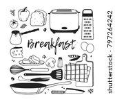 hand drawn illustration food ... | Shutterstock .eps vector #797264242