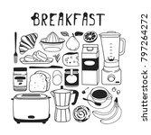 hand drawn illustration food ... | Shutterstock .eps vector #797264272