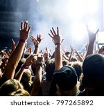 concert crowd at a rock concert | Shutterstock . vector #797265892