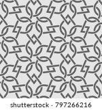 seamless pattern with hexagonal ... | Shutterstock .eps vector #797266216
