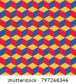 pattern cube background vector | Shutterstock .eps vector #797268346