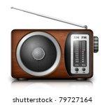 retro radio  vector | Shutterstock .eps vector #79727164