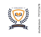 university logo design | Shutterstock .eps vector #797272678