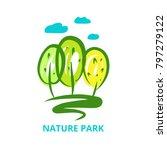 nature national park. template... | Shutterstock .eps vector #797279122