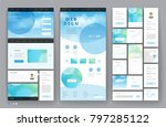 website template design with... | Shutterstock .eps vector #797285122
