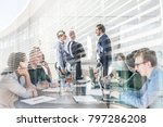 relaxed informal it business... | Shutterstock . vector #797286208
