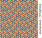 herringbone wallpaper. abstract ... | Shutterstock .eps vector #797289202