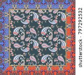 ethnic bandana print with... | Shutterstock .eps vector #797292532