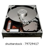Hard Drive Internal On White...