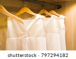 a number of symmetrically hung... | Shutterstock . vector #797294182