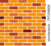 Vector Seamless Brick Pattern....