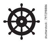 Helm Anchor Vector Icon Logo...