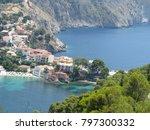 assos city kefalonia | Shutterstock . vector #797300332