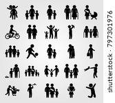 humans icon set vector. big... | Shutterstock .eps vector #797301976