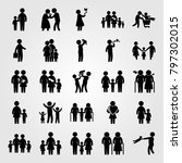 humans icon set vector. boy ... | Shutterstock .eps vector #797302015