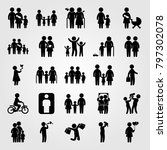 humans icon set vector. child... | Shutterstock .eps vector #797302078