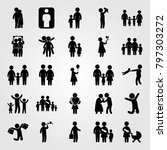 humans icon set vector.... | Shutterstock .eps vector #797303272