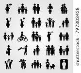 humans icon set vector. elderly ... | Shutterstock .eps vector #797303428