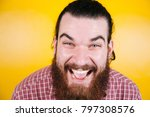 close up cheerful happy... | Shutterstock . vector #797308576