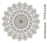 mandala. ethnic decorative... | Shutterstock .eps vector #797311228