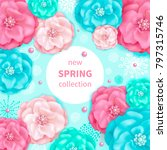 spring background with pink and ... | Shutterstock . vector #797315746