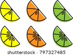 simply citrus slices | Shutterstock .eps vector #797327485
